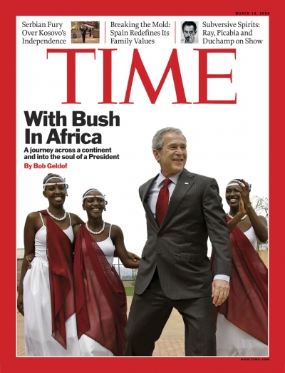 President George W. Bush in Africa.