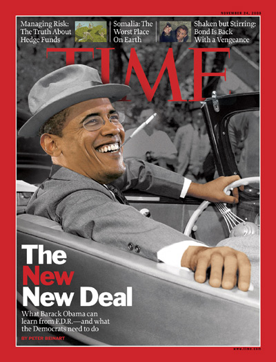 Barack Obama as Franklin D. Roosevelt