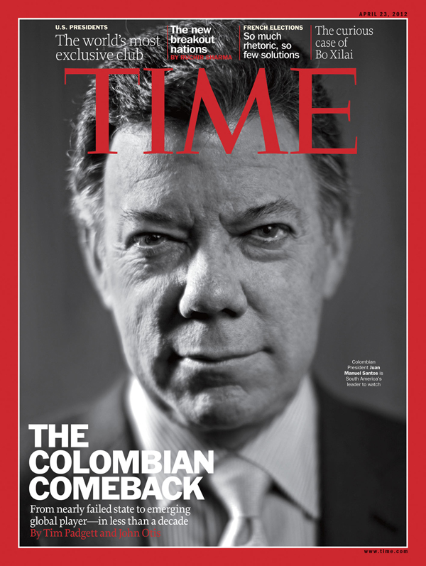 Close up of President Juan Manuel Santos