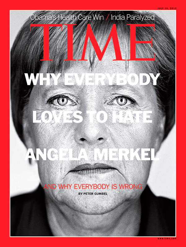 Close up of Angela Merkel
