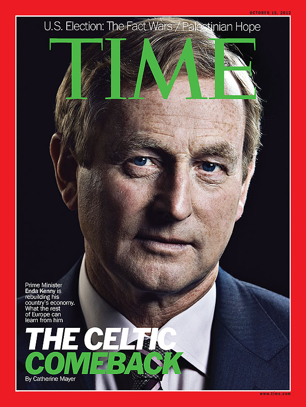 portrait of Ireland's Prime Minister Enda Kenny