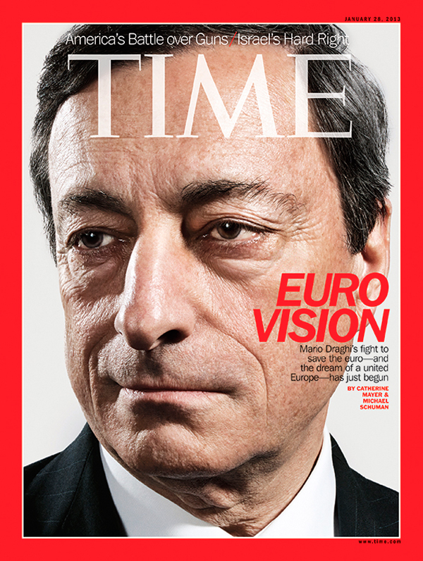 Headshot of Mario Draghi