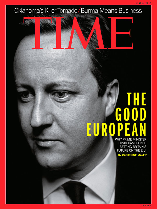 b/w profile of David Cameron