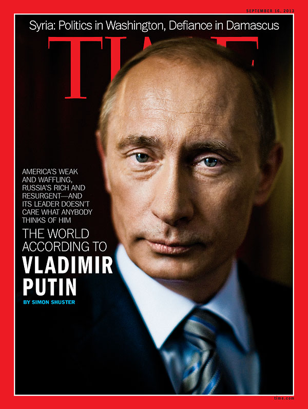 Time Magazine Cover The World According To Vladimir Putin Sep 16 2013 Russia President Vladimir Putin