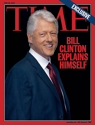 A portrait of a smiling Bill Clinton.