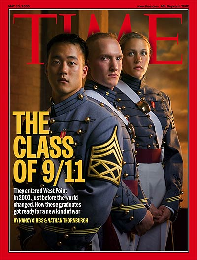 A photo of graduates of West Point.
