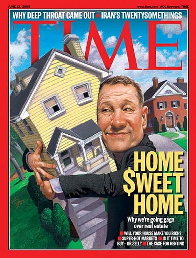 An illustration showing a man hugging a house.