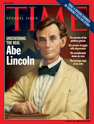 An illustration showing Abraham Lincoln.
