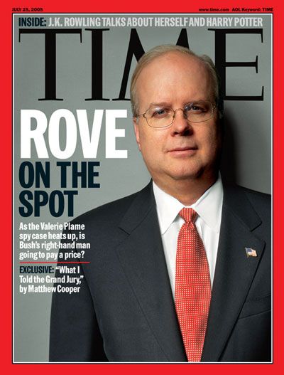 A portrait of Karl Rove.
