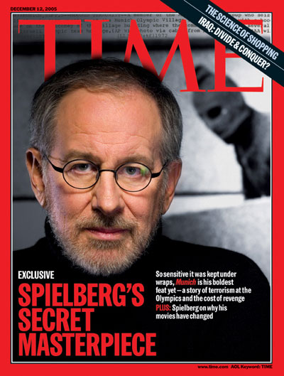 A portrait of Steven Spielberg.