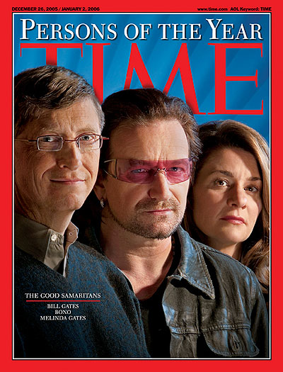 Bill Gates, Bono and Melinda Gates: three people on a global mission to end poverty, disease and indifference