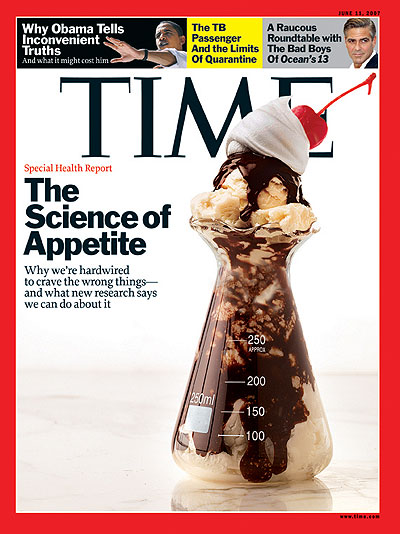 Photo of an ice cream sundae in a lab flask. Photo Illustration for TIME by Arthur Hochstein. Flask for TIME by Matthew Klein. Top of sundae by Colin Cooke/Stockfood