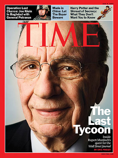 The Last Tycoon. Photo of Rupert Murdoch