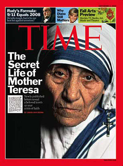 Close-up photo of Mother Teresa.