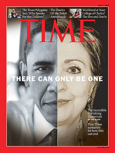 A split black and white photo of Barack Obama and Hillary Clinton