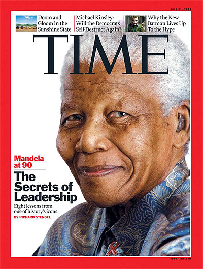 Close-up photo of Nelson Mandela