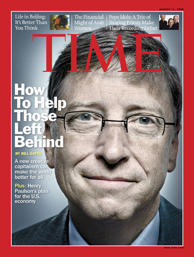 Close-up of Bill Gates