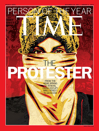 TIME Magazine Cover: 2011 Person of the Year: The Protester -- Dec. 26, 2011