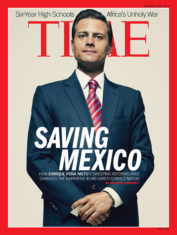 portrait of Mexican President Enrique Pena Nieto