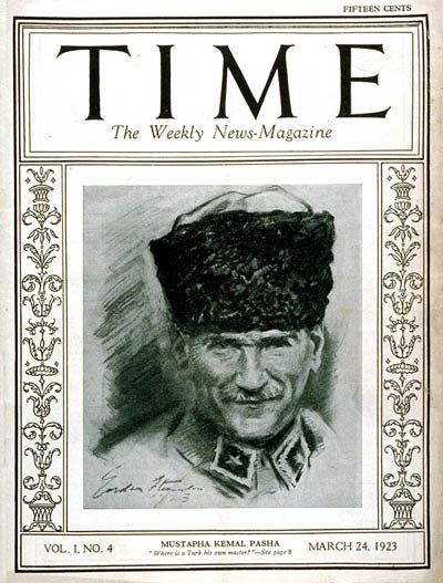 TIME Magazine Cover: Mustapha Kemal Pasha -- Mar. 24, 1923