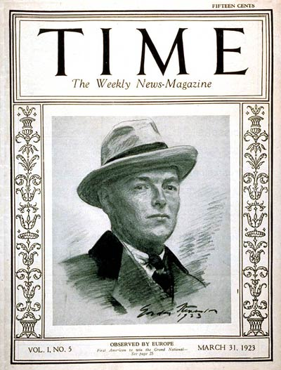 TIME Magazine Cover: Stephen Sanford -- Mar. 31, 1923
