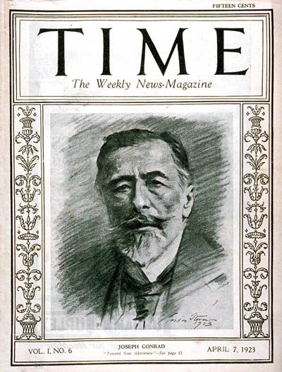 The first British subject to appear on TIME's cover  was Polish-born Writer Joseph Conrad, a naturalized Briton.