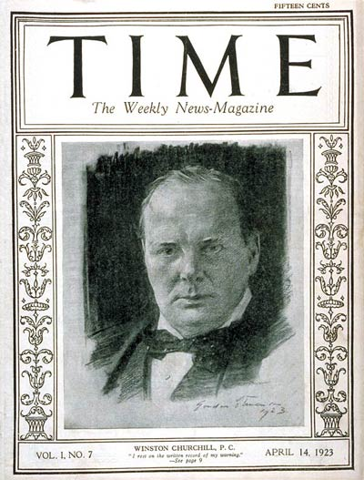TIME Magazine Cover: Winston Churchill -- Apr. 14, 1923