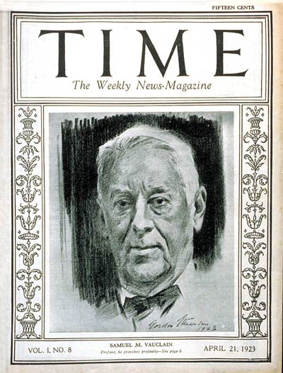 TIME Magazine Cover: Samuel M. Vauclain -- Apr. 21, 1923