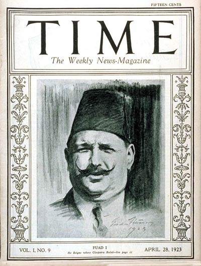 TIME Magazine Cover: King Fuad I -- Apr. 28, 1923