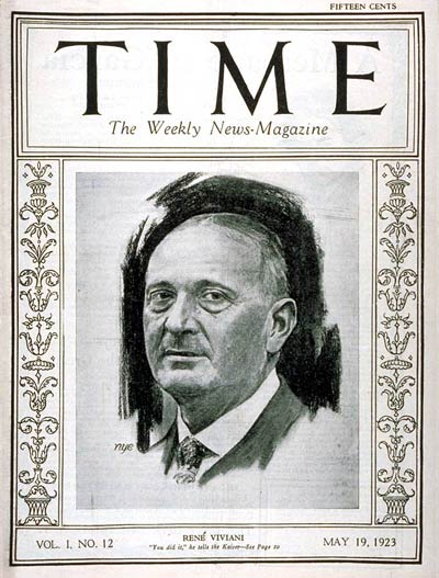 TIME Magazine Cover: René Viviani -- May 19, 1923