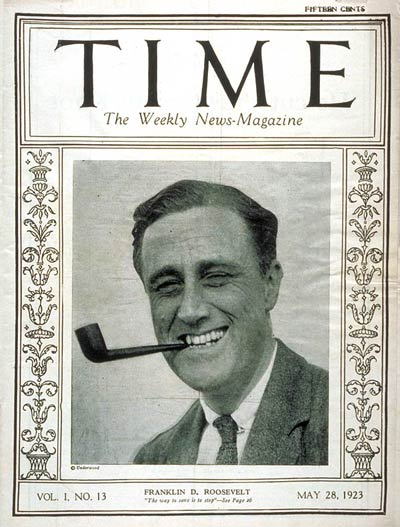 TIME Magazine Cover: Franklin D. Roosevelt -- May 28, 1923