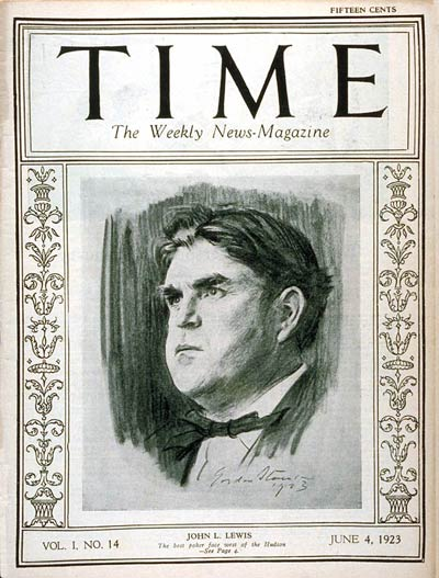 TIME Magazine Cover: John L. Lewis -- June 4, 1923
