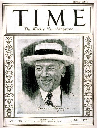 TIME Magazine Cover: Herbert L. Pratt -- June 11, 1923