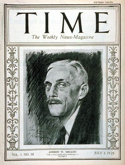 TIME Magazine Cover: Andrew W. Mellon -- July 2, 1923