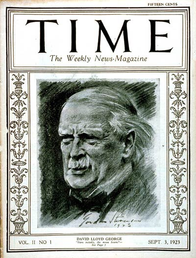 TIME Magazine Cover: David Lloyd George -- Sep. 3, 1923
