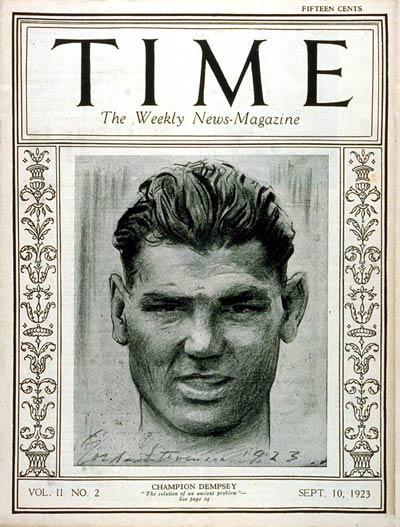 TIME Magazine Cover: Jack Dempsey -- Sep. 10, 1923