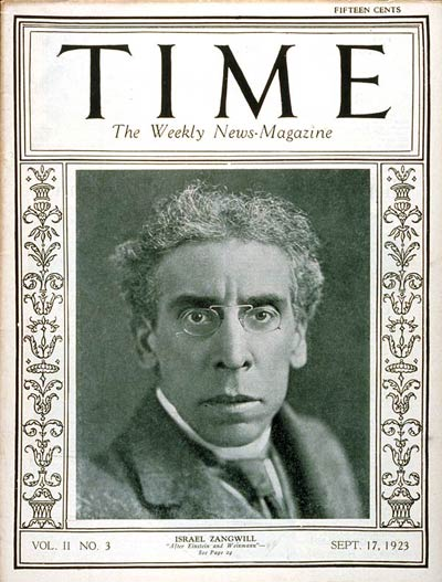 TIME Magazine Cover: Israel Zangwill -- Sep. 17, 1923