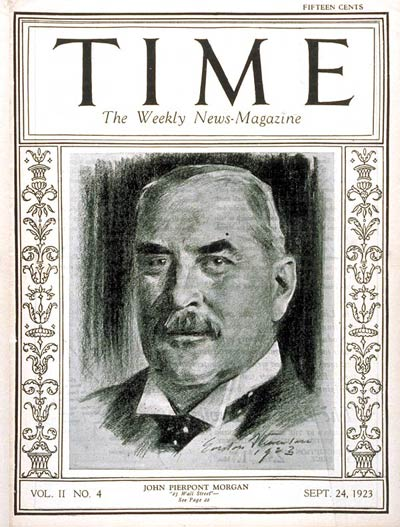 TIME Magazine Cover: John Pierpont Morgan -- Sep. 24, 1923
