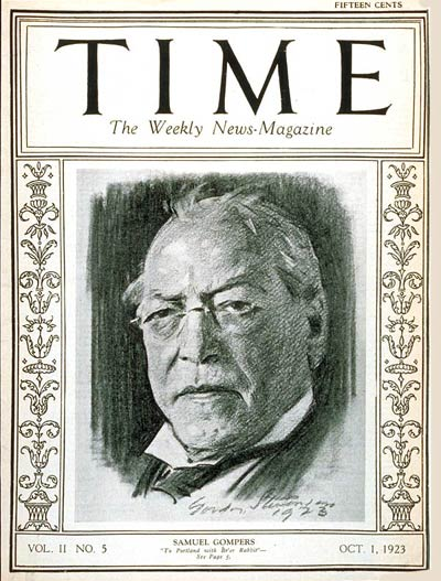 TIME Magazine Cover: Samuel Gompers -- Oct. 1, 1923