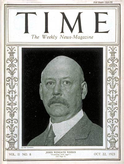 TIME Magazine Cover: John W. Weeks -- Oct. 22, 1923