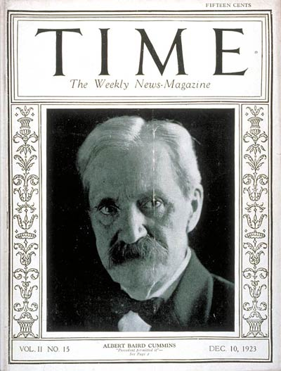 TIME Magazine Cover: Albert Baird Cummins -- Dec. 10, 1923