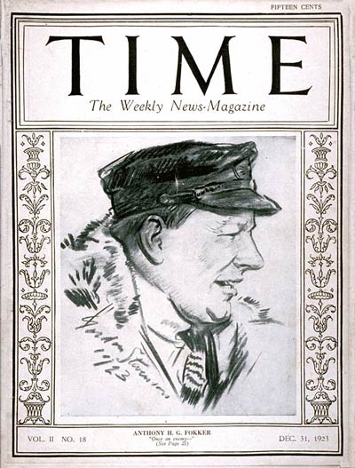 TIME Magazine Cover: Anthony H.G. Fokker -- Dec. 31, 1923