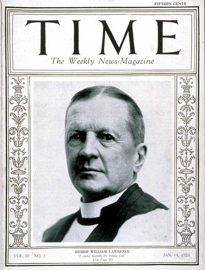 TIME Magazine Cover: Bishop Lawrence -- Jan. 14, 1924