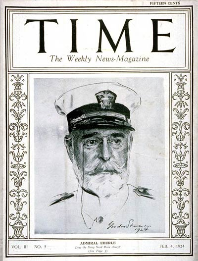 TIME Magazine Cover: Admiral Edward Eberle -- Feb. 4, 1924