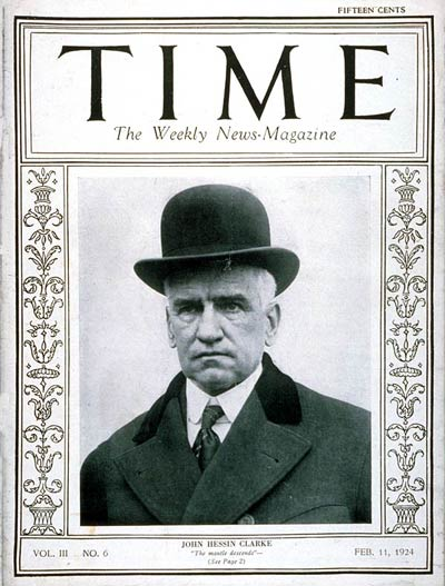 TIME Magazine Cover: John H. Clarke -- Feb. 11, 1924