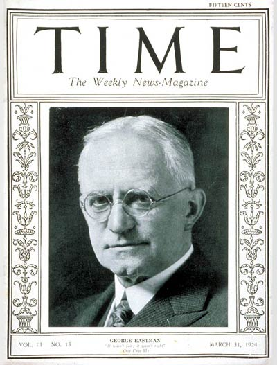 TIME Magazine Cover: George Eastman -- Mar. 31, 1924