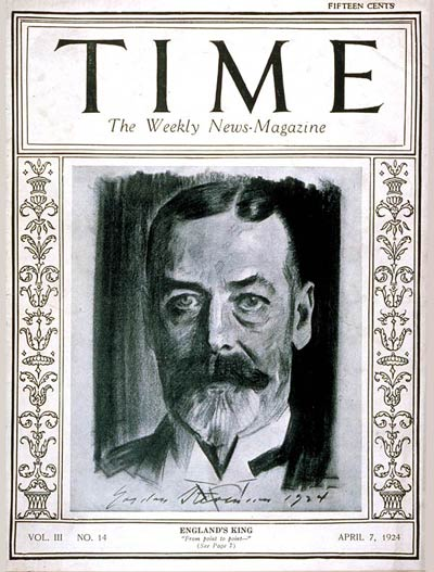TIME Magazine Cover: King George V -- Apr. 7, 1924