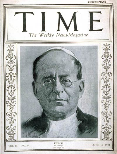 TIME Magazine Cover: Pope Pius XI -- June 16, 1924