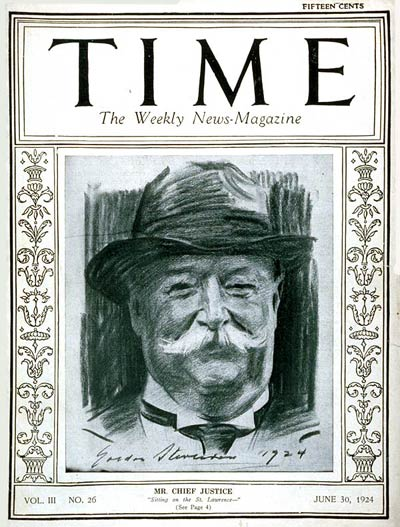 TIME Magazine Cover: William Howard Taft -- June 30, 1924