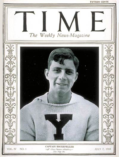 TIME Magazine Cover: James S. Rockefeller -- July 7, 1924